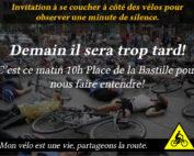 accident de cycliste, défense des cyclistes, mon vélo est une vie