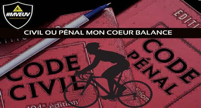 action civile, recours civil, cycliste blessé, défense cycliste accidenté, avocat accident de cycliste